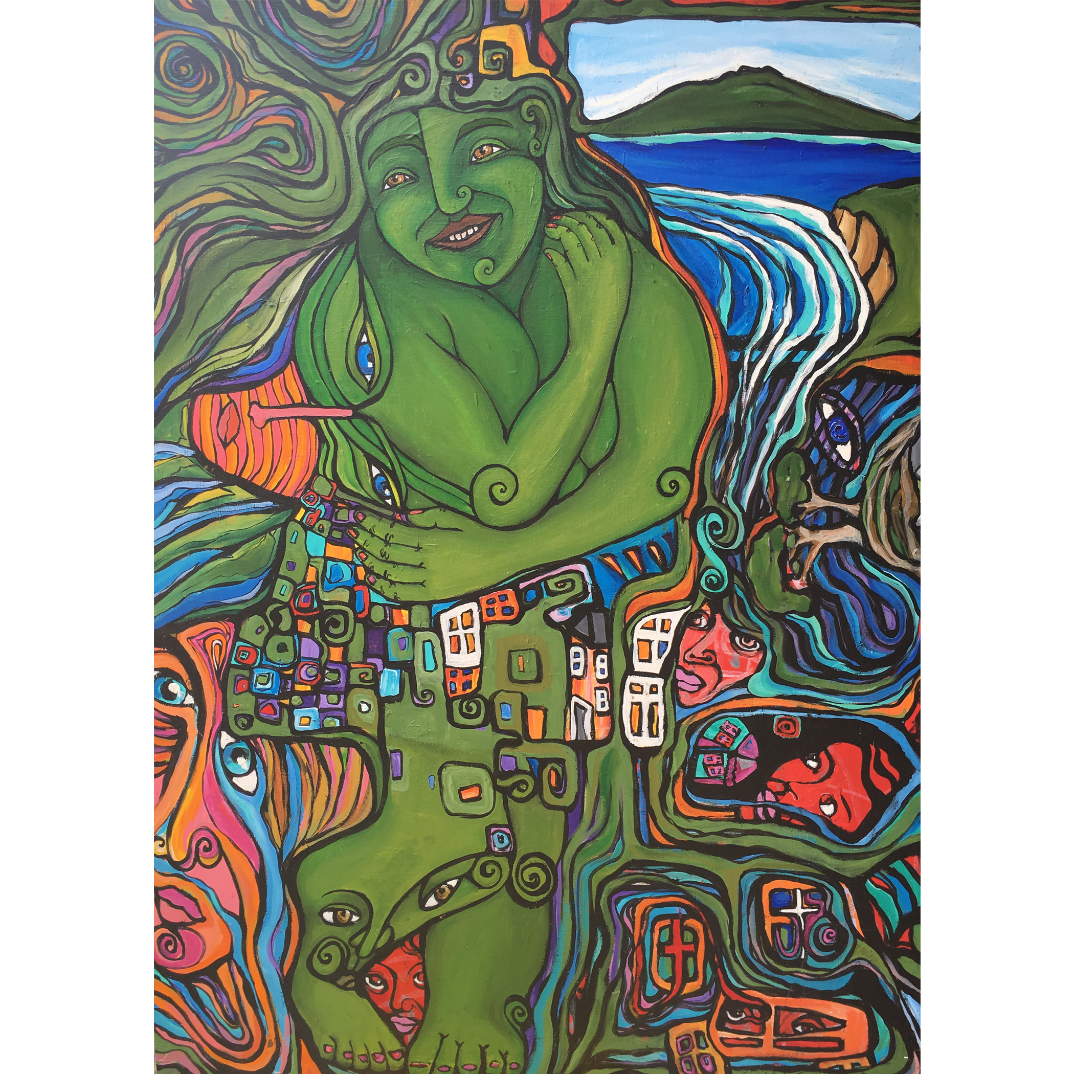 Mother Earth painting by New zealand artist Fiona Whyte, NZ Art