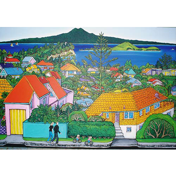 Home painting by New zealand artist Fiona Whyte, NZ Art