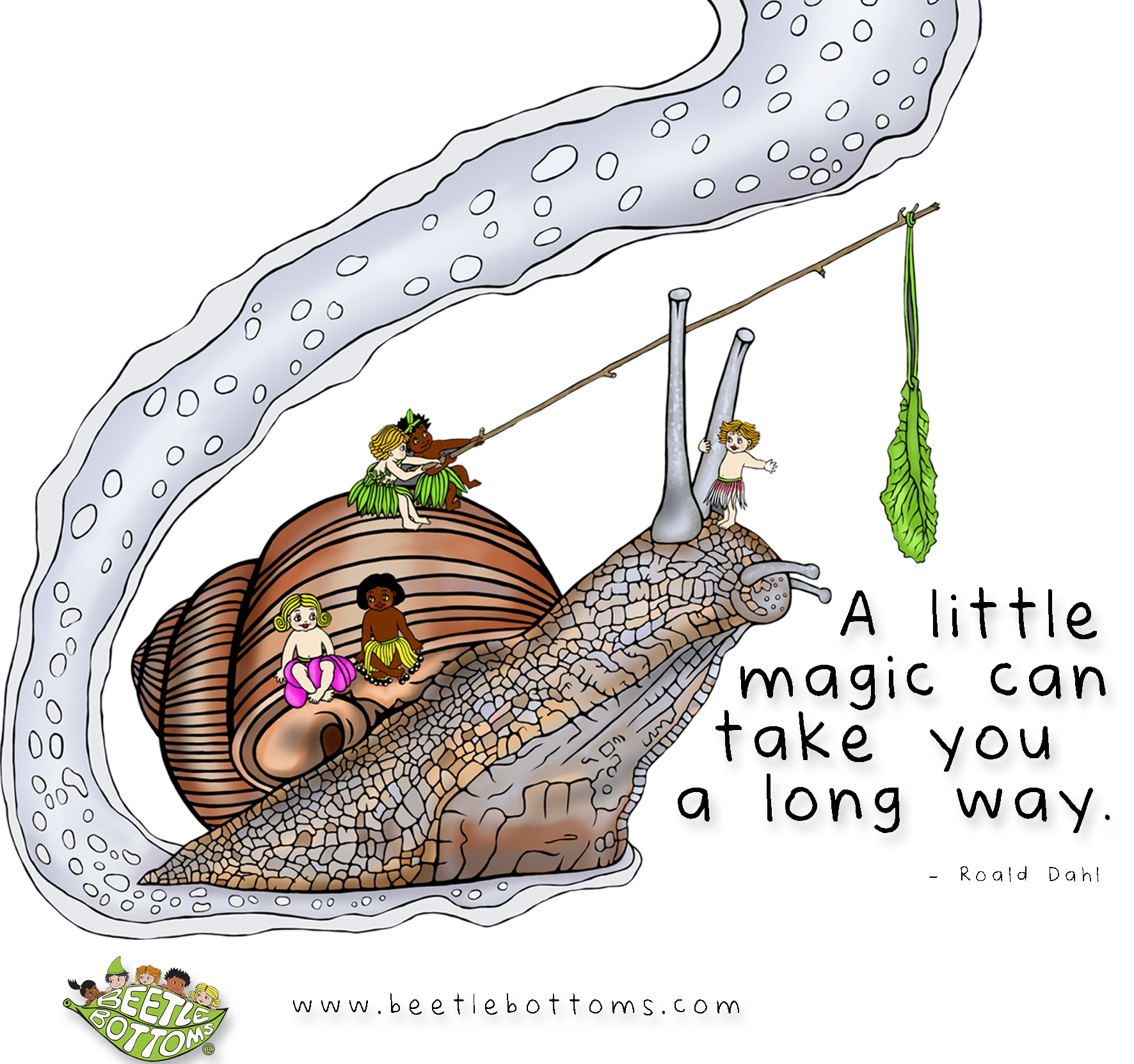 A little magic can take you a long way, Beetle Bottoms illustrated by NZ artist Fiona Whyte