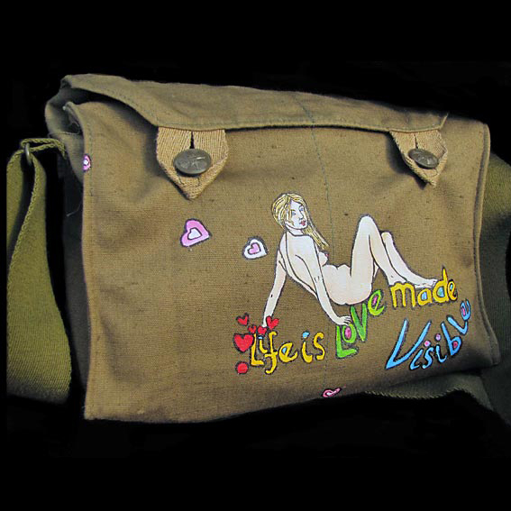 Hand painted Bag by Fiona Whyte