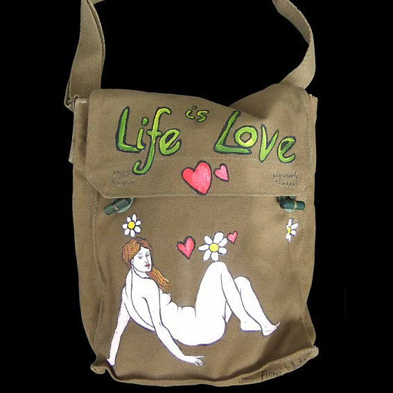 Hand painted bag by NZ artist Fiona Whyte