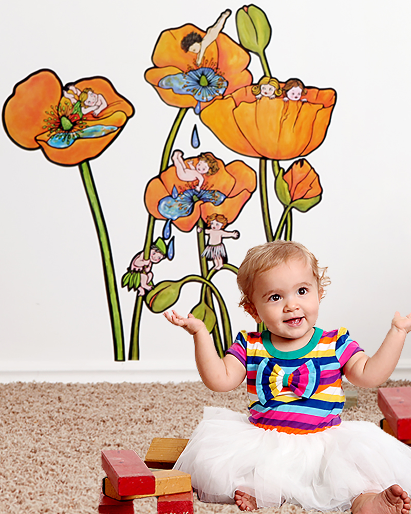 Flower Wall Decals illustrated by NZ artist Fiona Whyte